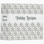 "Rook and Holly Christmas Holiday Recipe 2"" Binder"