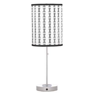 ROOK CHESS PIECE BAR CODE Game Barcode Pattern Table Lamps