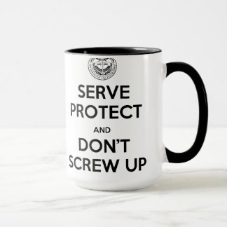 Rookie Blue Serve & Protect Right Hand Mug