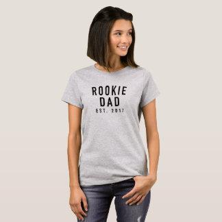 Rookie Dad Est 2017 Logo Funny T-Shirt