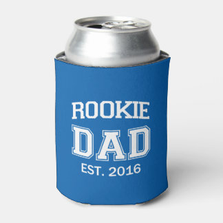 Rookie Dad funny can beer or soda Can Cooler