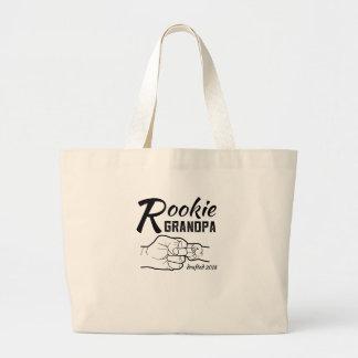 Rookie Grandpa Baby Announcement 2018 Mens Shirt Large Tote Bag