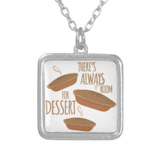 Room For Dessert Silver Plated Necklace
