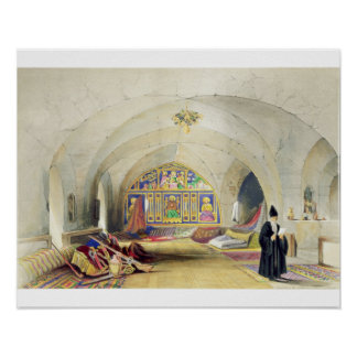 Room in an Armenian Convent, in Jerusalem (colour Print