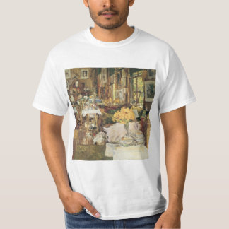 Room of Flowers by Childe Hassam, Vintage Fine Art T-Shirt
