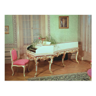 Room with the harpsichord postcard