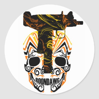Roondawg Skull and Uzi stickers