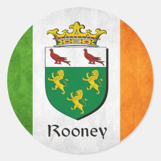 Rooney Irish Flag Classic Round Sticker