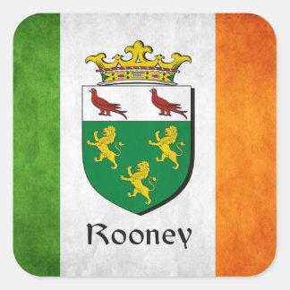 Rooney Irish Flag Square Sticker