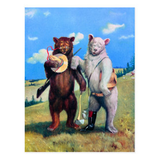 Roosevelt Bears Out in the American West Postcard