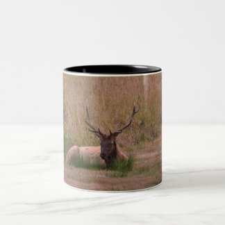 Roosevelt Bull Elk Two-Tone Coffee Mug