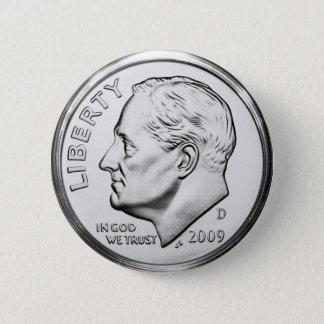 Roosevelt Dime 2 Inch Round Button