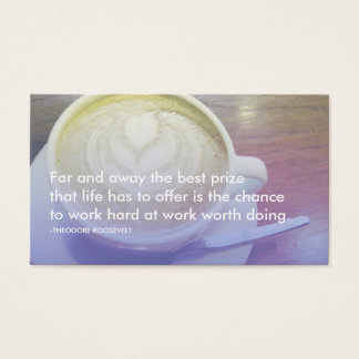 roosevelt success quote business card