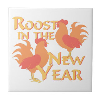 Roost In New Year Tile