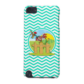 Rooster Aqua Green Chevron iPod Touch 5G Covers