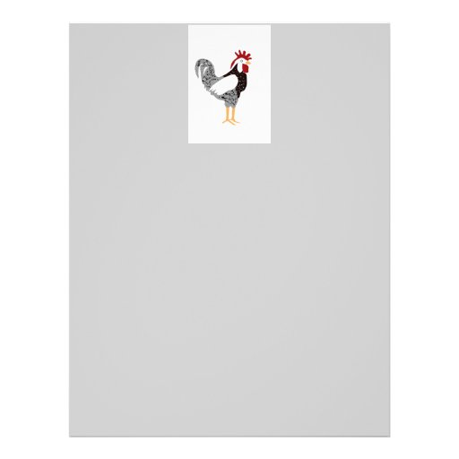 Rooster art: Wyandotte black lacy chicken gifts Personalized Flyer