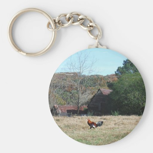 Rooster at the Farm Photo by Sandy Closs. Key Chains