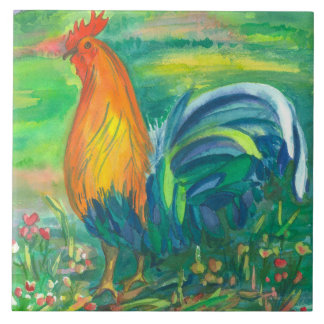 Rooster Bird Painting Tiles