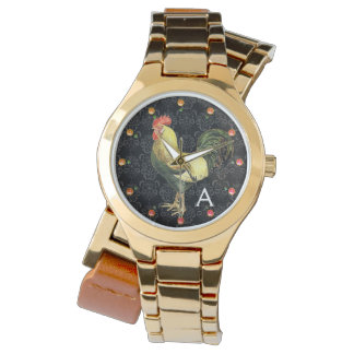 ROOSTER Black White Damask Monogram Wrist Watches