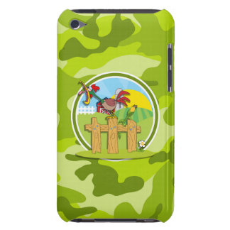 Rooster bright green camo camouflage barely there iPod cases