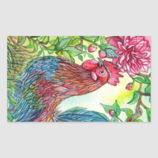 Rooster By Peony Sticker