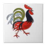 Rooster Cartoon Animated Customize Red Ceramic Tiles