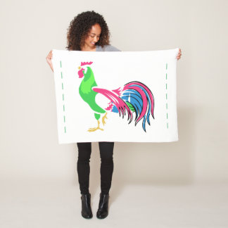 Rooster Charm Fleece Blanket