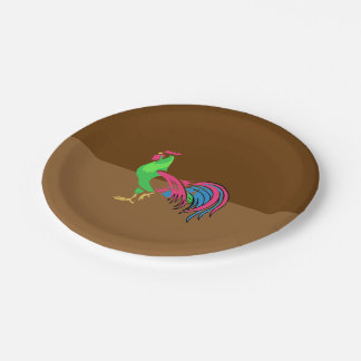 Rooster Charm Paper Plate