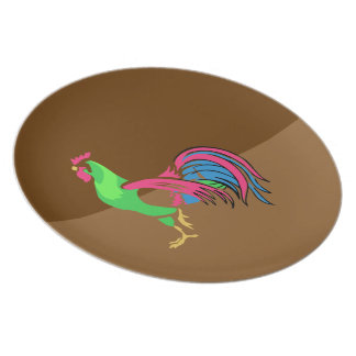 Rooster Charm Plate
