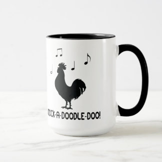 Rooster Cock-A-Doodle-Doo Music Notes Mug