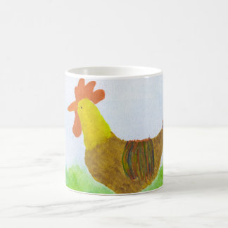 Rooster Coffee Cup Basic White Mug