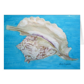 Rooster conch card
