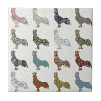 Rooster Country Pattern Ceramic Tiles