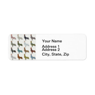 Rooster Country Pattern Return Address Label