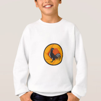 Rooster Crowing Shutter Circle Retro Sweatshirt