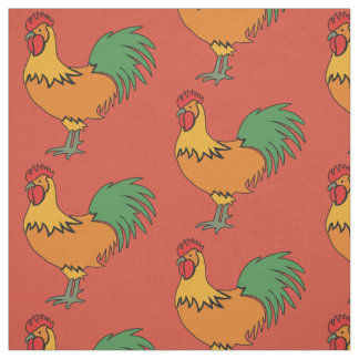 Rooster custom color fabric
