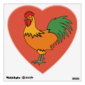 Rooster custom color wall decals