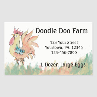 Rooster Custom Eggs Sticker