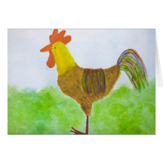 Rooster ~ DeColores Card