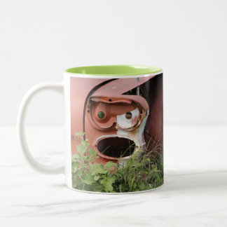 Rooster Design 1 Two-Tone Coffee Mug