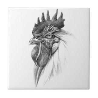 Rooster design by Schukina sk065 Tile
