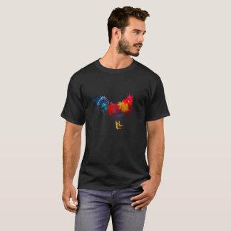 Rooster design on Black T-Shirt