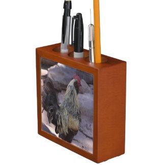 Rooster Desk Organizer