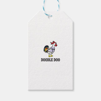 rooster doodle doo gift tags
