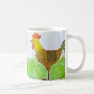 Rooster Double Sided Coffee Cup Basic White Mug