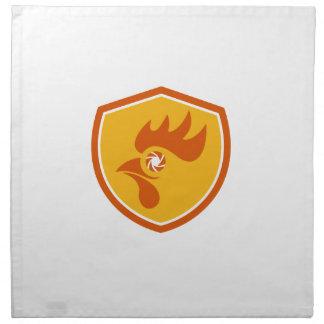 Rooster Eye Shutter Crest Retro Napkin