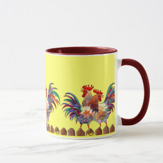 ROOSTER FENCE by SHARON SHARPE Mug