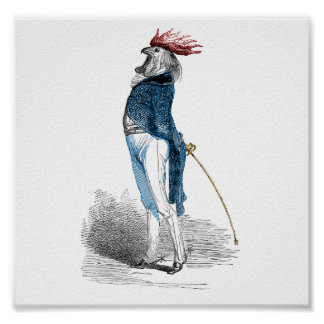 Rooster Gentleman Poster