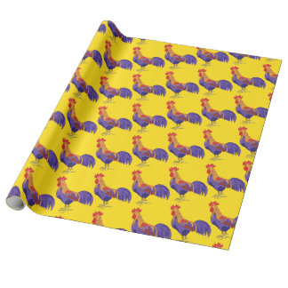 Rooster Gift Wrap Paper