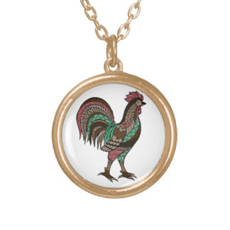 Rooster Gold Plated Necklace